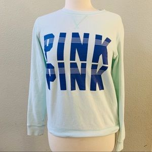 PINK Victoria's Secret blue teal sweatshirt XS